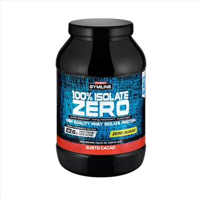GYMLINE 100% WHEY ISO ZERO ZUCCHERO CACAO 900 G PROTEINE ENERVIT - Farmaedo.it