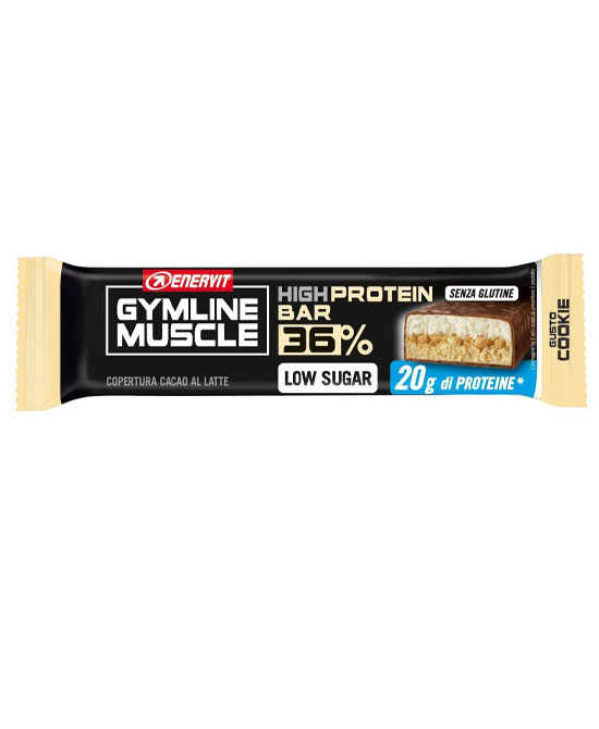 Enervit Gymline Muscle Protein Bar 36% Barretta  Cookie 55 grammi - latuafarmaciaonline.it