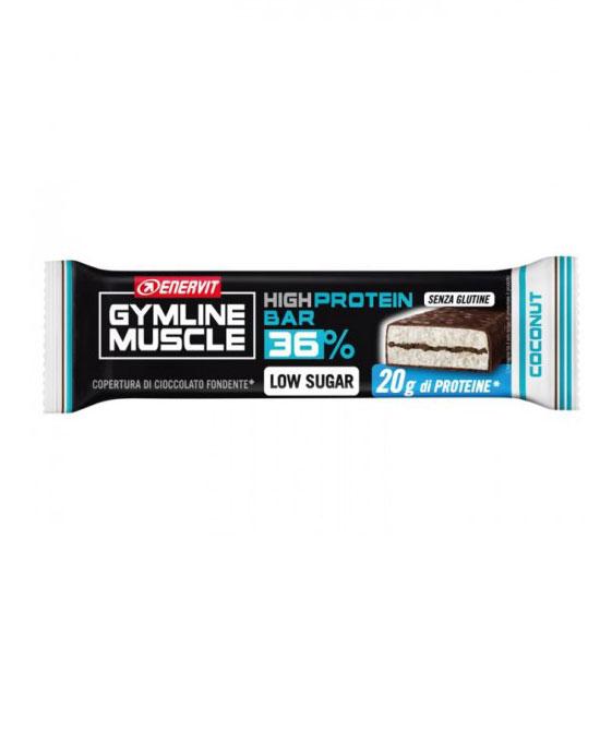 Enervit Gymline Protein Bar 36% Low Sugar Coconut 1 Barretta Gusto Cocco 55g