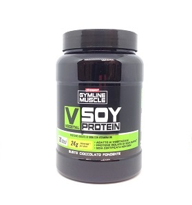 GYMLINE MUSCLE VEGETAL SOY PROTEIN CIOCCOLATO FONDENTE 800 G - Farmacia 33