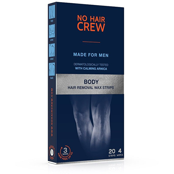 HAIR CREW BODY WAX 20 STRIPS - Farmapage.it