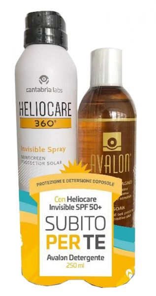 HELIOCARE INVISIBLE SPRAY 50+ 200 ML + C/AVALON 250 ML - Farmacia Castel del Monte