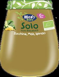Hero Baby Solo Omogeneizzato Zucchine Mais e Spinaci 120g - Arcafarma.it