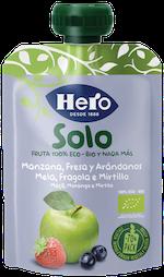 Hero Baby Solo Pouch Mela Fragola e Mirtillo 100g - Arcafarma.it