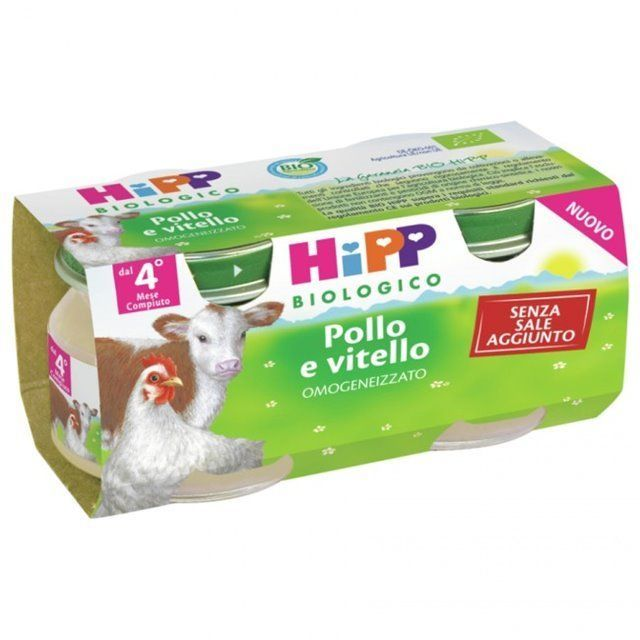 HIPP BIO HIPP BIO OMOGENEIZZATO POLLO VITELLO 2X80 G - Farmafamily.it