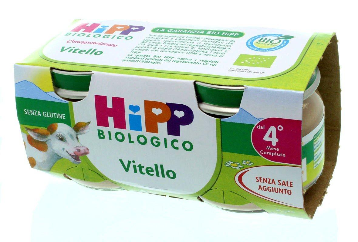 HIPP BIO HIPP BIO OMOGENEIZZATO VITELLO 2X80 G - Farmawing