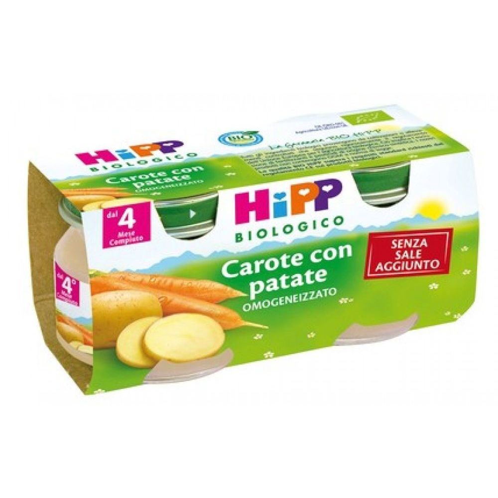 HIPP OMOGENIZ CAROTE E PATATE 2X80G - Iltuobenessereonline.it