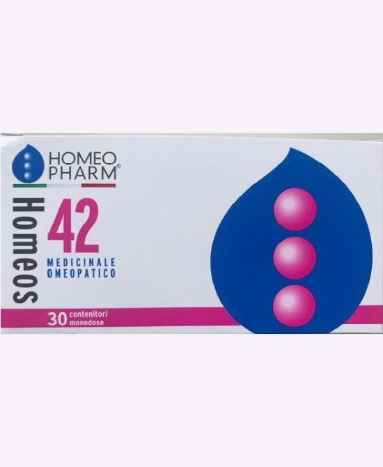 HOMEOS 42 GLOBULI 30 TUBI - Farmaci.me