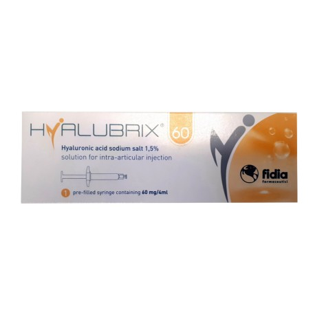 SIRINGA INTRA-ARTICOLARE HYALUBRIX 60 ACIDO IALURONICO 1,5% 60 MG 4 ML - Zfarmacia