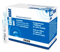 IALUMAR IPER 24 FLACONCINI MONODOSE DA 5 ML CON SOLUZIONE STERILE DI ACQUA DI MARE IPERTONICA 3% E ACIDO IALUORONICO PROMOZIONE - Farmacia 33