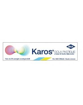 Karos Gola Integratore Acido Ialuronico Mal di Gola Tosse Secca 20 Pastiglie - Farmastar.it