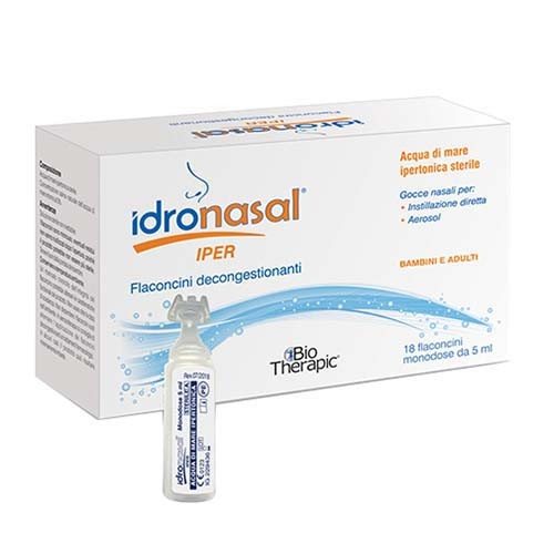 IDRONASAL IPER 18 FLACONCINI MONODOSE DA 5 ML - Farmafamily.it