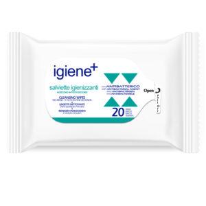 IGIENE+ SALVIETTE IGIENIZZANTI con ANTIBATTERICO 20PZ - Iltuobenessereonline.it