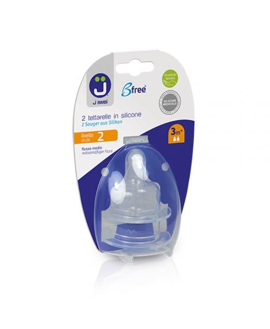 J BIMBI B FREE CLASSIC/GLASS/ME 2 TETTARELLE IN SILICONE FLUSSO 2 - farmaciadeglispeziali.it