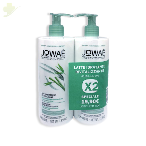 JOWAE DUO LATTE CORPO IDRATANTE  RIVITALIZZANTE 400 ML + 400 ML - Farmastar.it