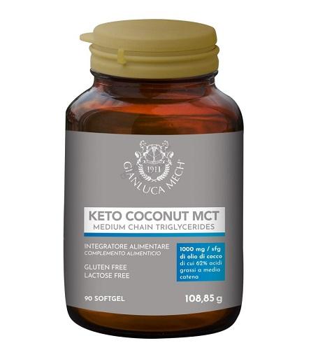 Gianluca Mech Integratore Keto Coconut MCT Controllo Peso Metabolismo 90 Perle - Farmastar.it