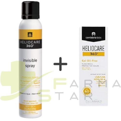 KIT Convenienza Solari Heliocare Invisible Spray Corpo SPF 50+ 200 ml + Heliocare Gel Oil-Free Viso SPF 50+ 50 ml - Farmastar.it