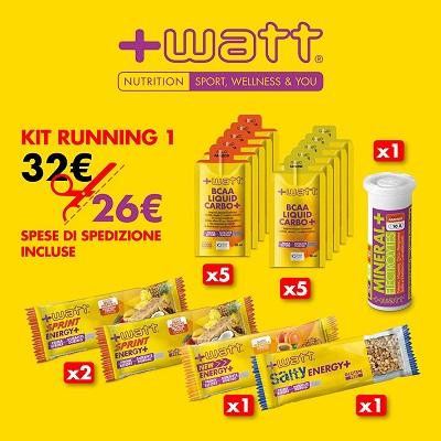KIT RUNNING +Watt - Parafarmacia la Fattoria della Salute S.n.c. di Delfini Dott.ssa Giulia e Marra Dott.ssa Michela