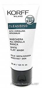 KORFF CLEANSING MASCHERA ARGILLA BIANCA 30 ML - Farmacia Bartoli