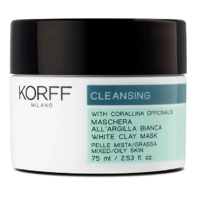 KORFF CLEANSING MASCHERA ARGILLA BIANCA 75 ML - Farmacia Castel del Monte