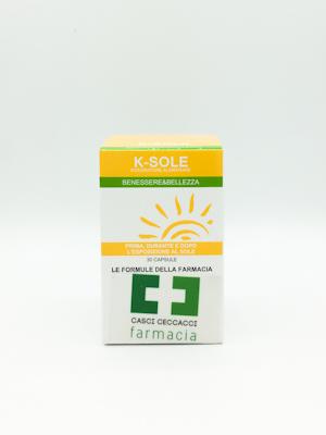 K-SOLE STIMOLATORE DI ABBRONZATURA CAPSULE FARMACIA CASCI CECCACCI - Farmacento