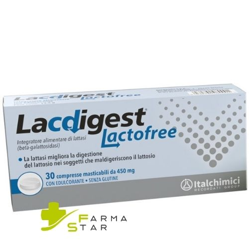 LACDIGEST LACTOFREE 30CPR - Farmastar.it