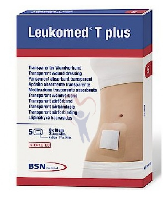 Leukomed T Plus Skin Sensitive Medicazione Post-Operatoria Trasparente Impermeabile con Massa Adesiva al Silicone 8 x 10cm 5 Pezzi - Arcafarma.it