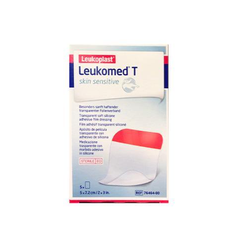 Leukomed T Skin Sensitive Medicazione Post-Operatoria Trasparente con Massa Adesiva in Silicone 5 x 7,2cm 5 Pezzi - Arcafarma.it