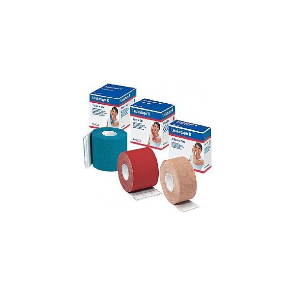 Leukotape K Benda Adesiva per Taping Fisioterapico Larghezza 7,5cm Lunghezza 5m Color Rosso in Rotolo - Arcafarma.it
