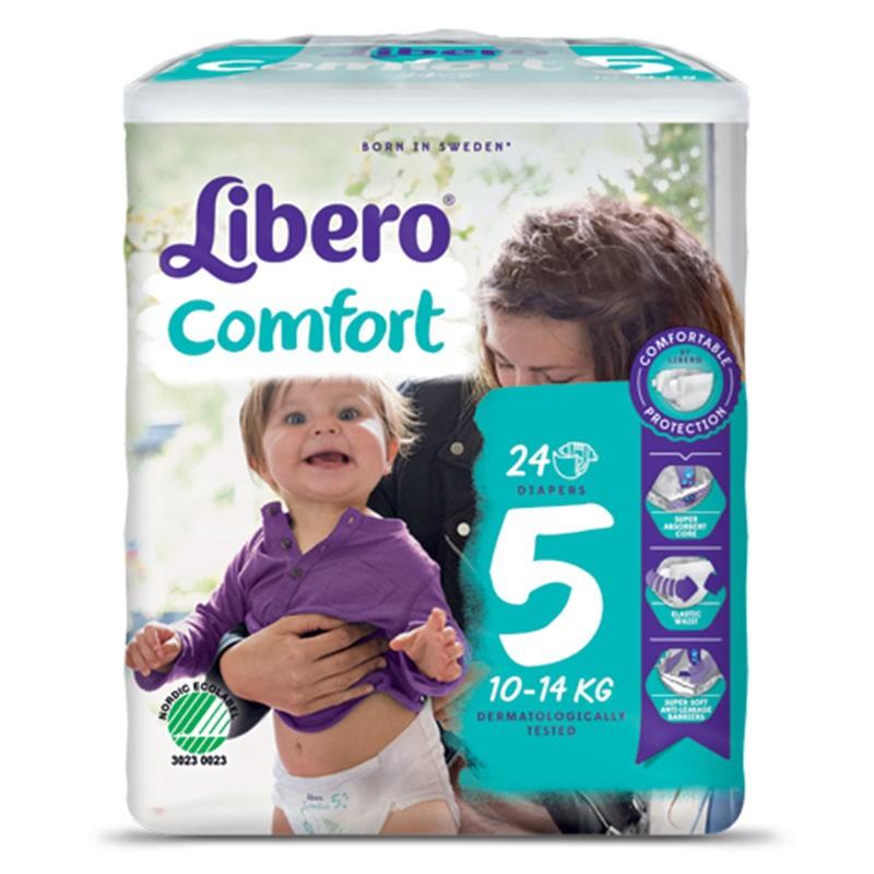LIBERO COMFORT 5 PANNOLINO PER BAMBINO TAGLIA 10-14KG 24 PEZZI - Farmaciapacini.it