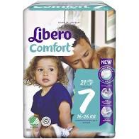 LIBERO COMFORT 7 PANNOLINO PER BAMBINO 16-26 KG 21 PEZZI - farmaciafalquigolfoparadiso.it