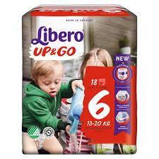 LIBERO UP&GO PANNOLINI 6 13-20 18 PEZZI - farmaciafalquigolfoparadiso.it