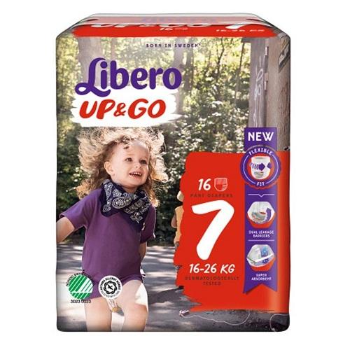 LIBERO UP&GO PANNOLINI 7 16-26 16 PEZZI - Farmafamily.it