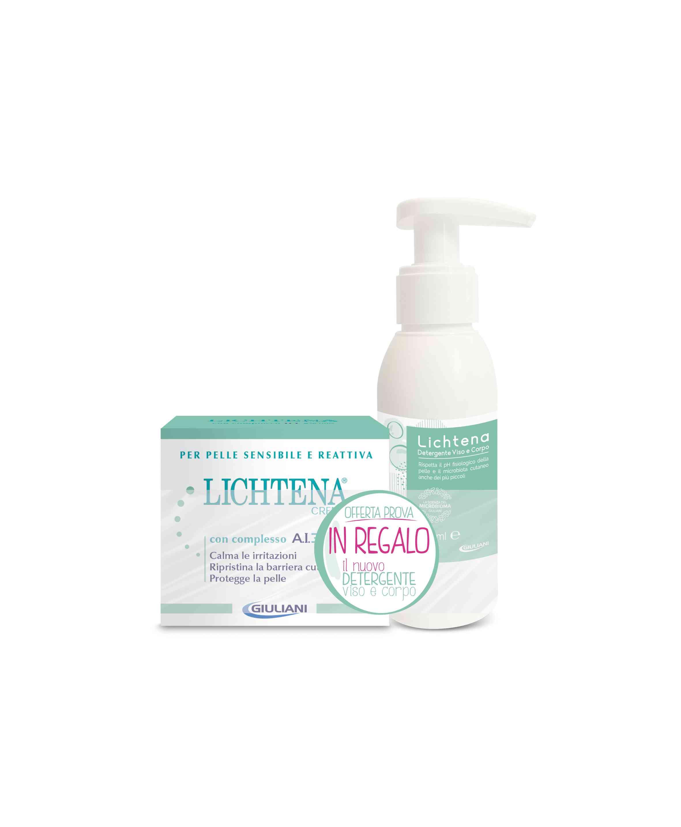 LICHTENA CREMA AI 3 ACTIVE 50 ML + Detergente Viso e Corpo 100ml (edizione limitata) - Farmacianuova.eu