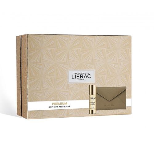 Lierac Cofanetto Regalo Donna  Premium La Cure Siero Viso Anti-età Globale 30 ml + Pochette Rue des Fleurs omaggio - Farmastar.it