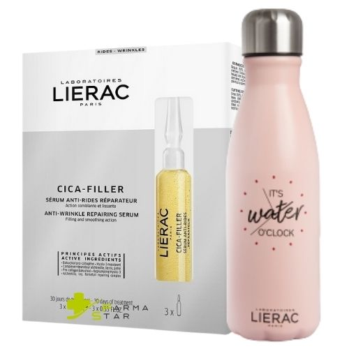 LIERAC CICA FILLER SIERO VISO ANTI-RUGHE RIPARATORE 3 FIALE 10 ML - Farmastar.it