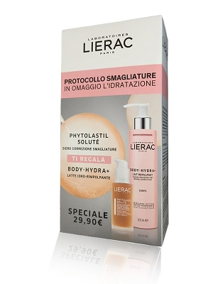 LIERAC PHYTOLASTIL COFANETTO SIERO SMAGLIATURE RASSODANTE 75 ML + BODY HYDRA CORPO 200 ML - Farmastar.it