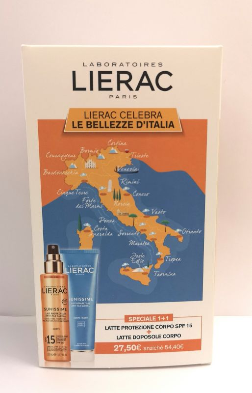 LIERAC SUNISSIME CORPO SPF15 150 ML + LATTE DOPOSOLE 150 ML - Farmastar.it