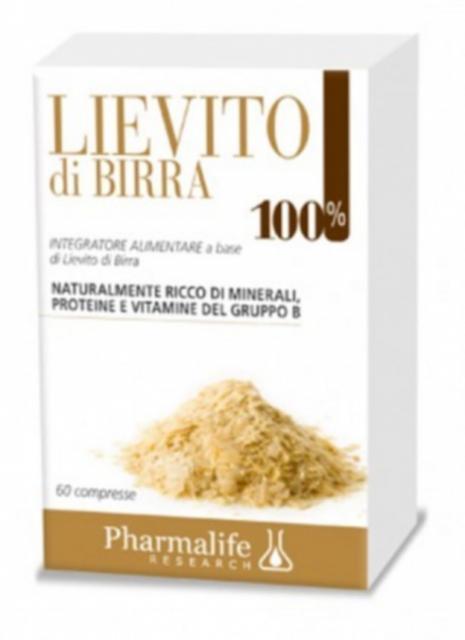 PHARMALIFE LIEVITO DI BIRRA 100% 60 COMPRESSE - Iltuobenessereonline.it