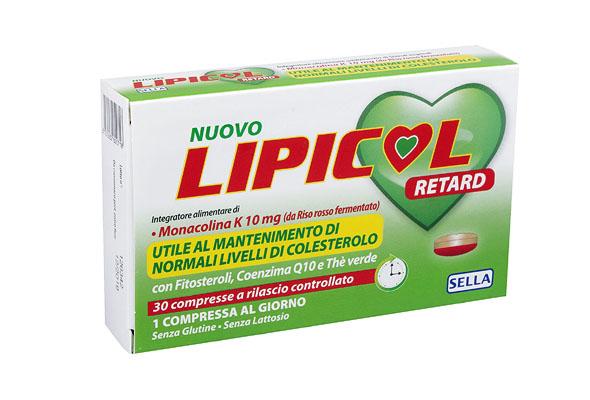 LIPICOL RETARD 30 COMPRESSE - Iltuobenessereonline.it