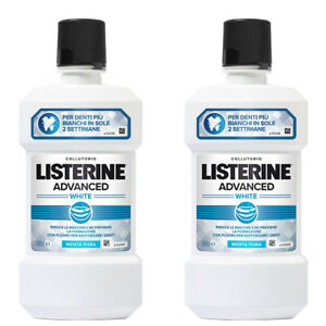 LISTERINE ADVANCE WHITE 500 ML X 2 PEZZI - Arcafarma.it