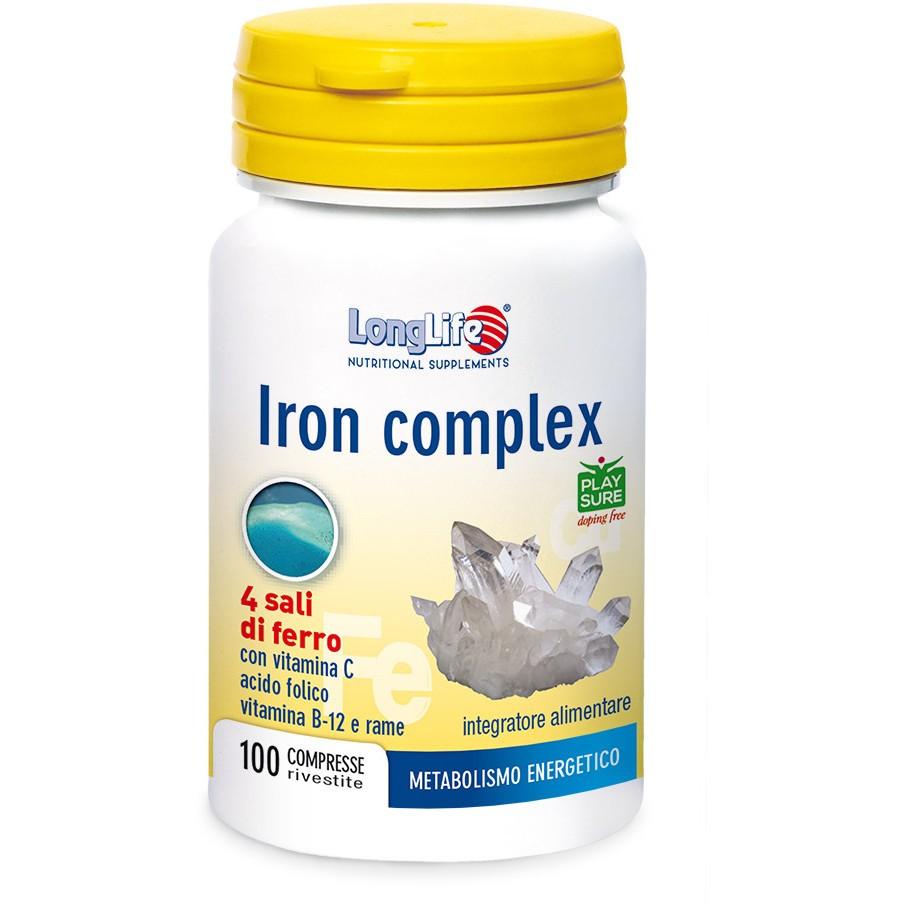 Longlife Iron Complex 100 Compresse - Arcafarma.it