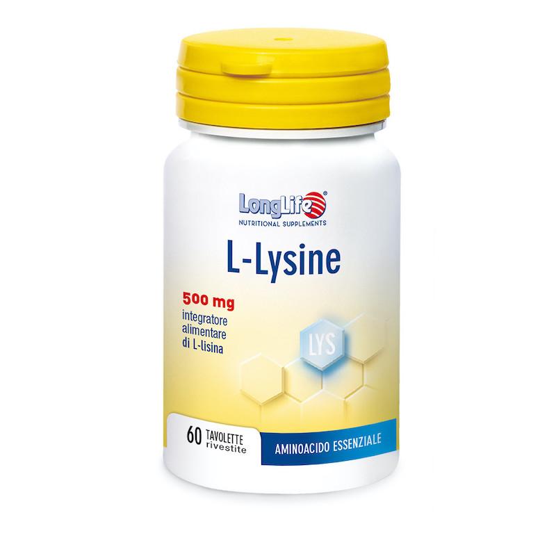 Longlife L-Lysine 500mg 60 Tavolette - Arcafarma.it