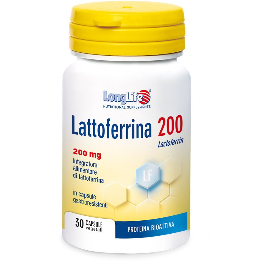 Longlife Lattoferrina 200 30 Capsule - Sempredisponibile.it