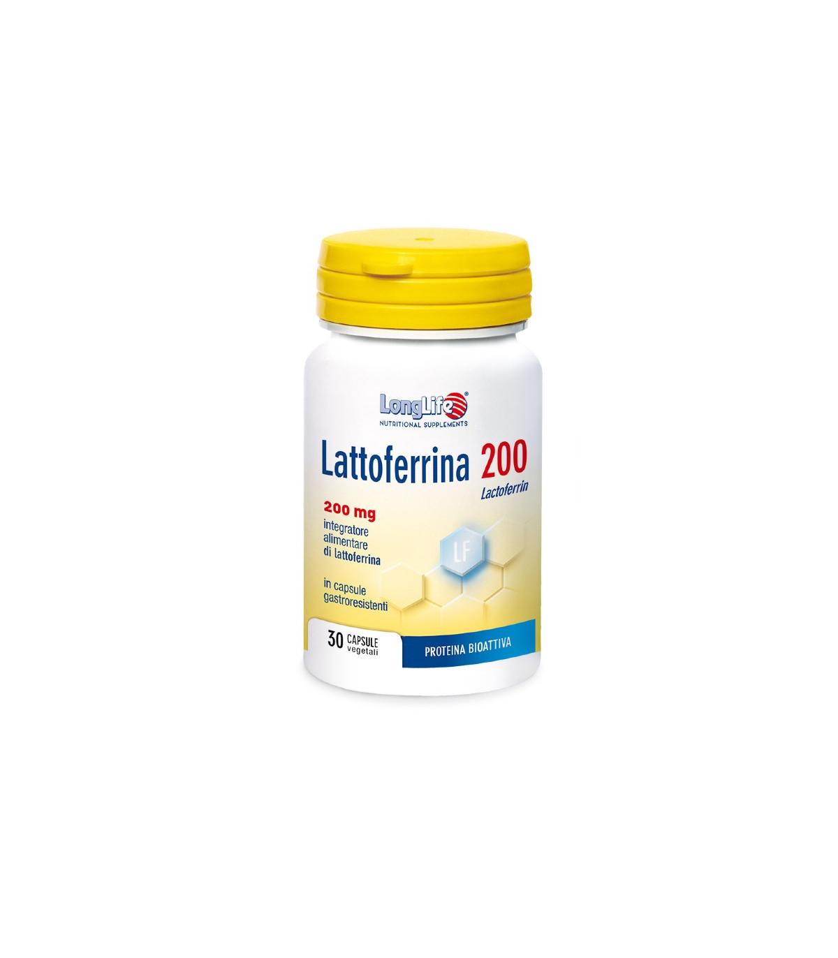 LONGLIFE LATTOFERRINA200 30CPS - Parafarmacia la Fattoria della Salute S.n.c. di Delfini Dott.ssa Giulia e Marra Dott.ssa Michela