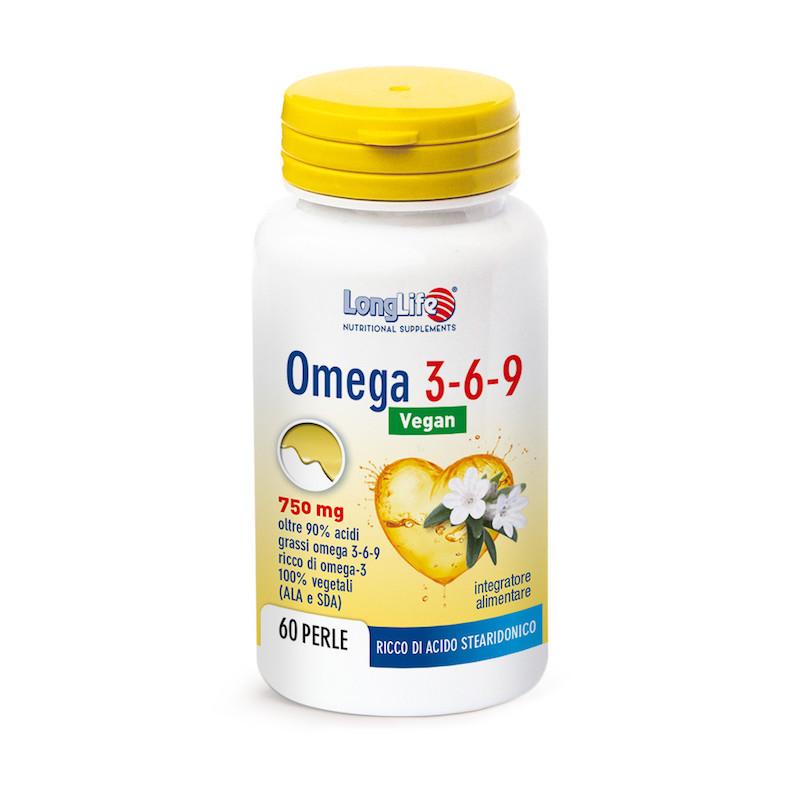 Longlife Omega 3-6-9 Vegan 750 mg 60 Perle