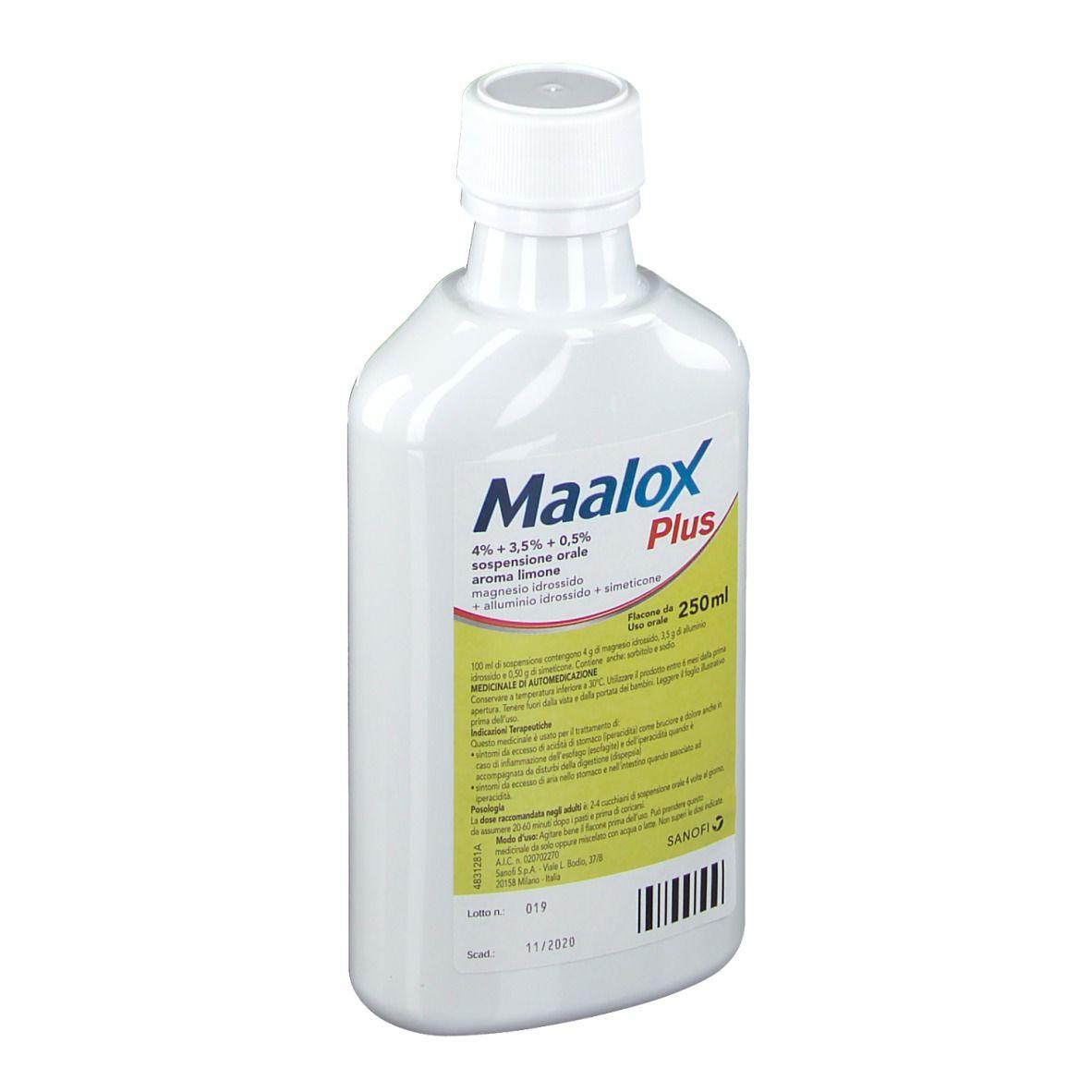MAALOX PLUS*OS SOSP 4+3,5+0,5% - Speedyfarma.it