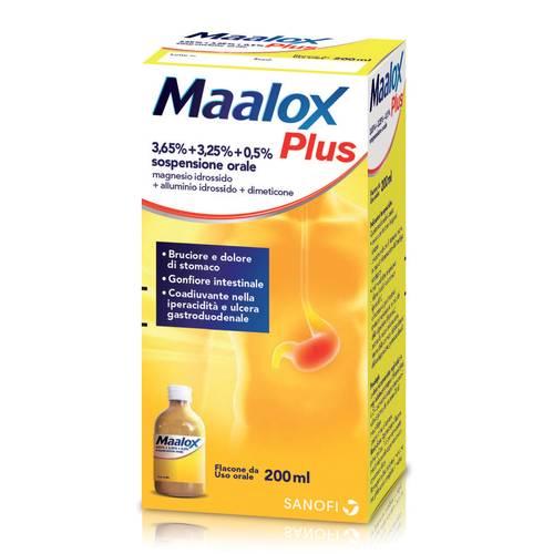 MAALOX PLUS*OS SOSP 4+3,5+0,5% - Farmawing