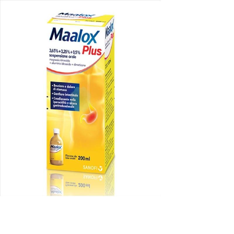 MAALOX PLUS*OS SOSP 4+3,5+0,5% - pharmaluna