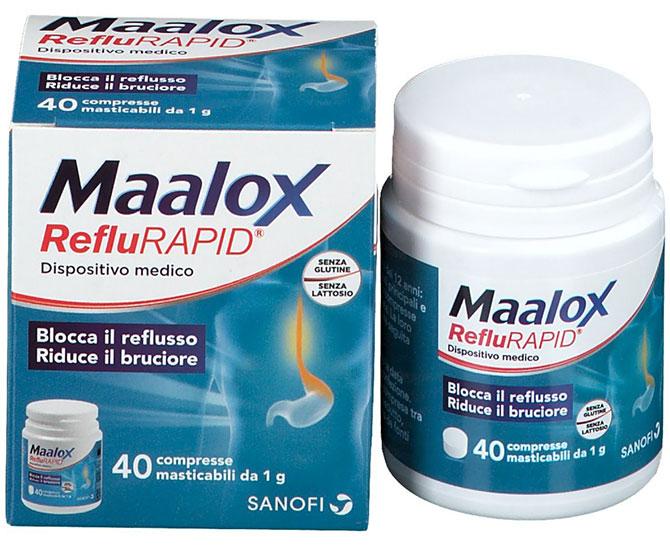 Maalox RefluRAPID 40 Compresse Masticabili - Farmacielo